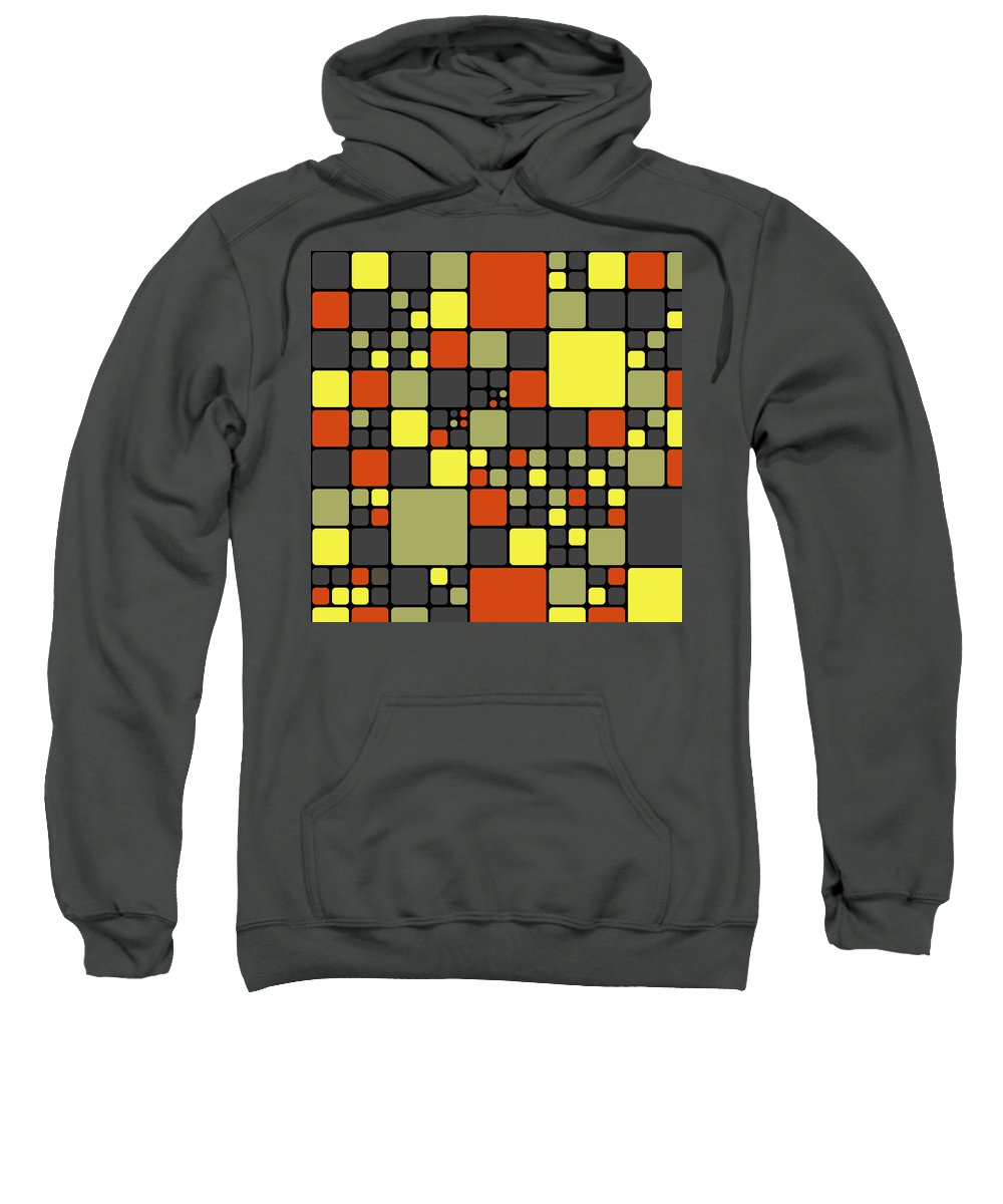 Abstract Sweatshirt featuring the digital art Dio - 09aybo by Variance Collections