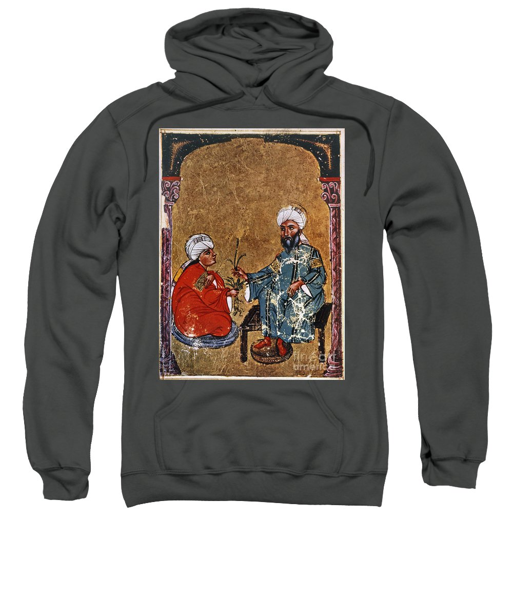1229 Sweatshirt featuring the photograph Dioscorides And Student by Granger