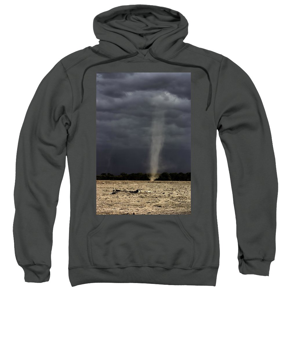 Dust Devil Sweatshirt featuring the photograph Dirt Devil During Drought by Amanda Stadther