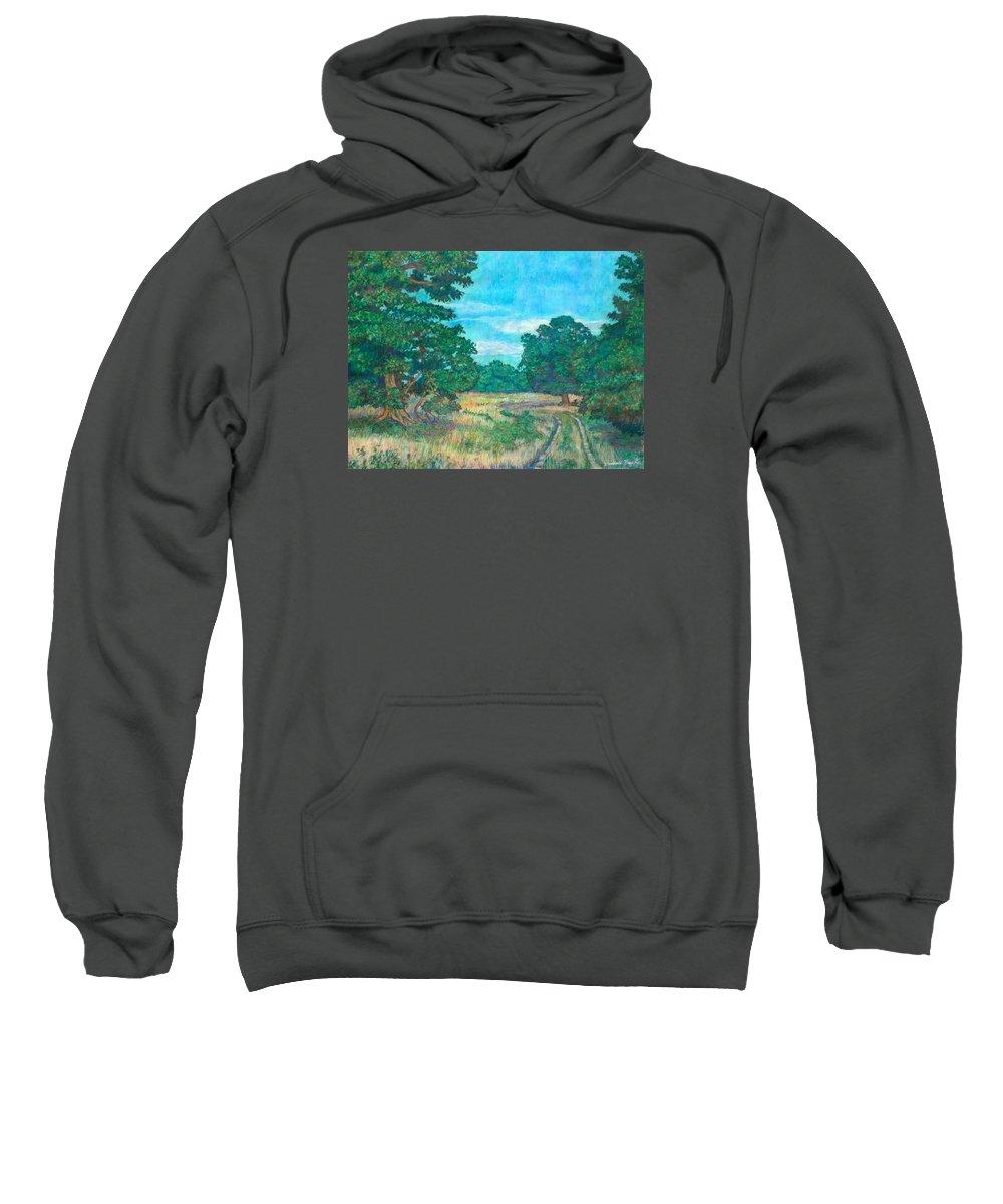 Landscape Sweatshirt featuring the painting Dirt Road Near Rock Castle Gorge by Kendall Kessler