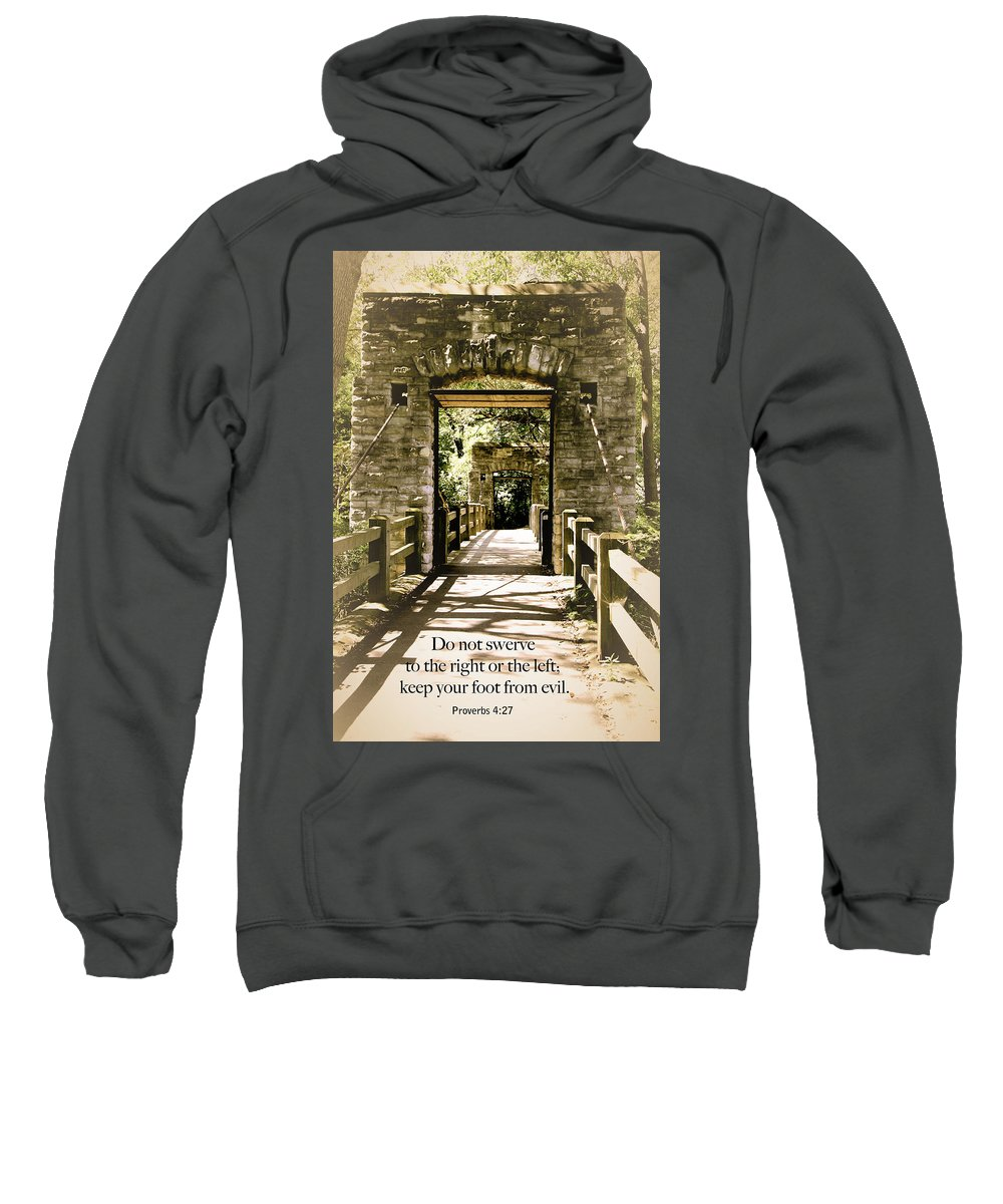 Walking Bridge Sweatshirt featuring the photograph Do Not Swerve by Debbie Nobile