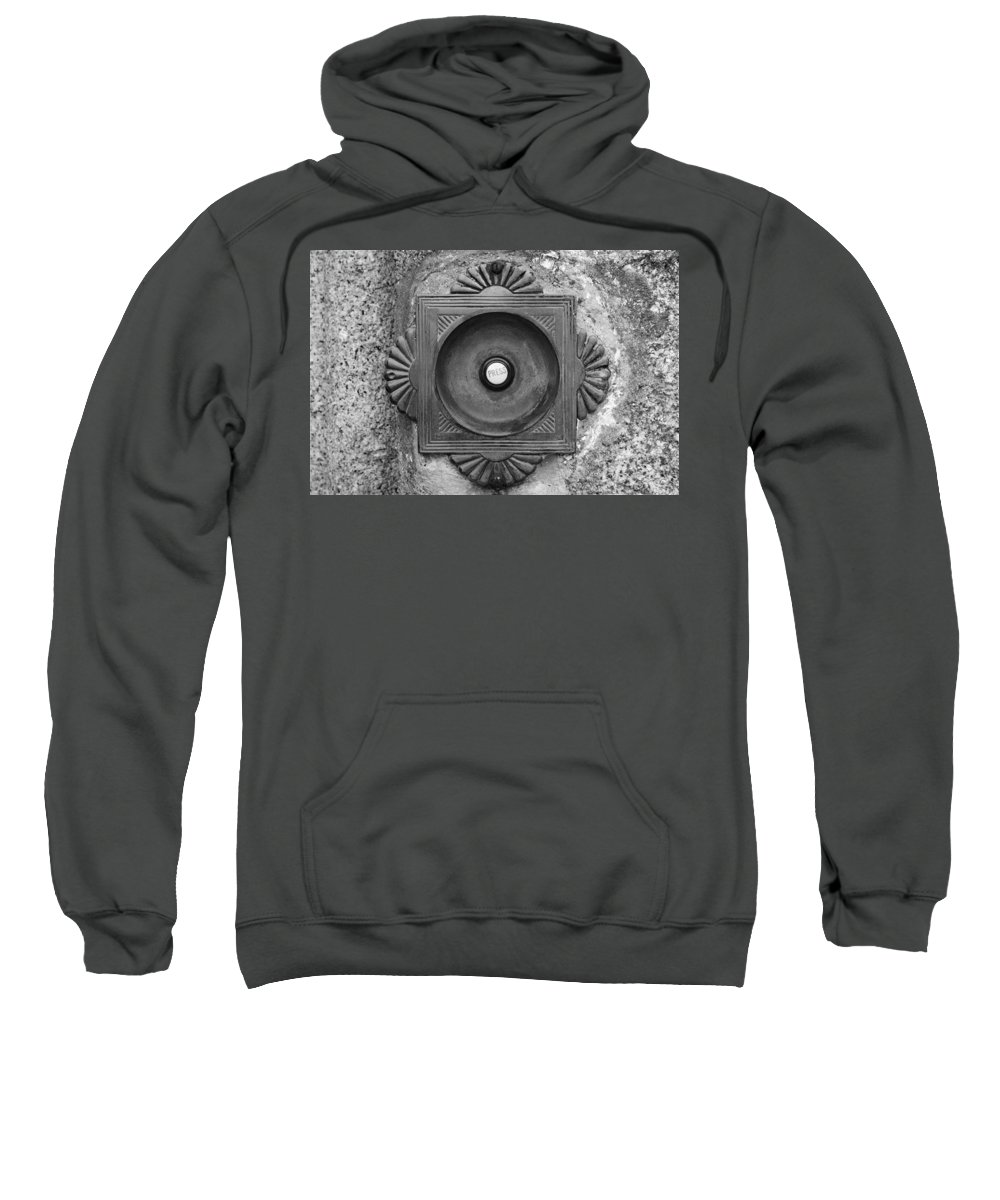 Doorbell Sweatshirt featuring the photograph Door Bell by Chevy Fleet