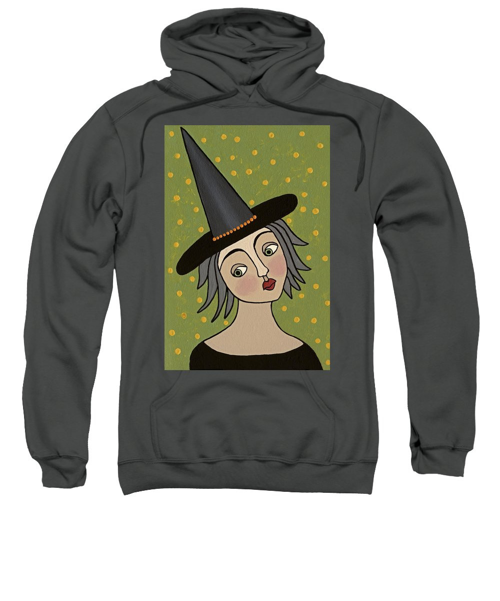 Witch Sweatshirt featuring the painting Dorothy by Medana Gabbard