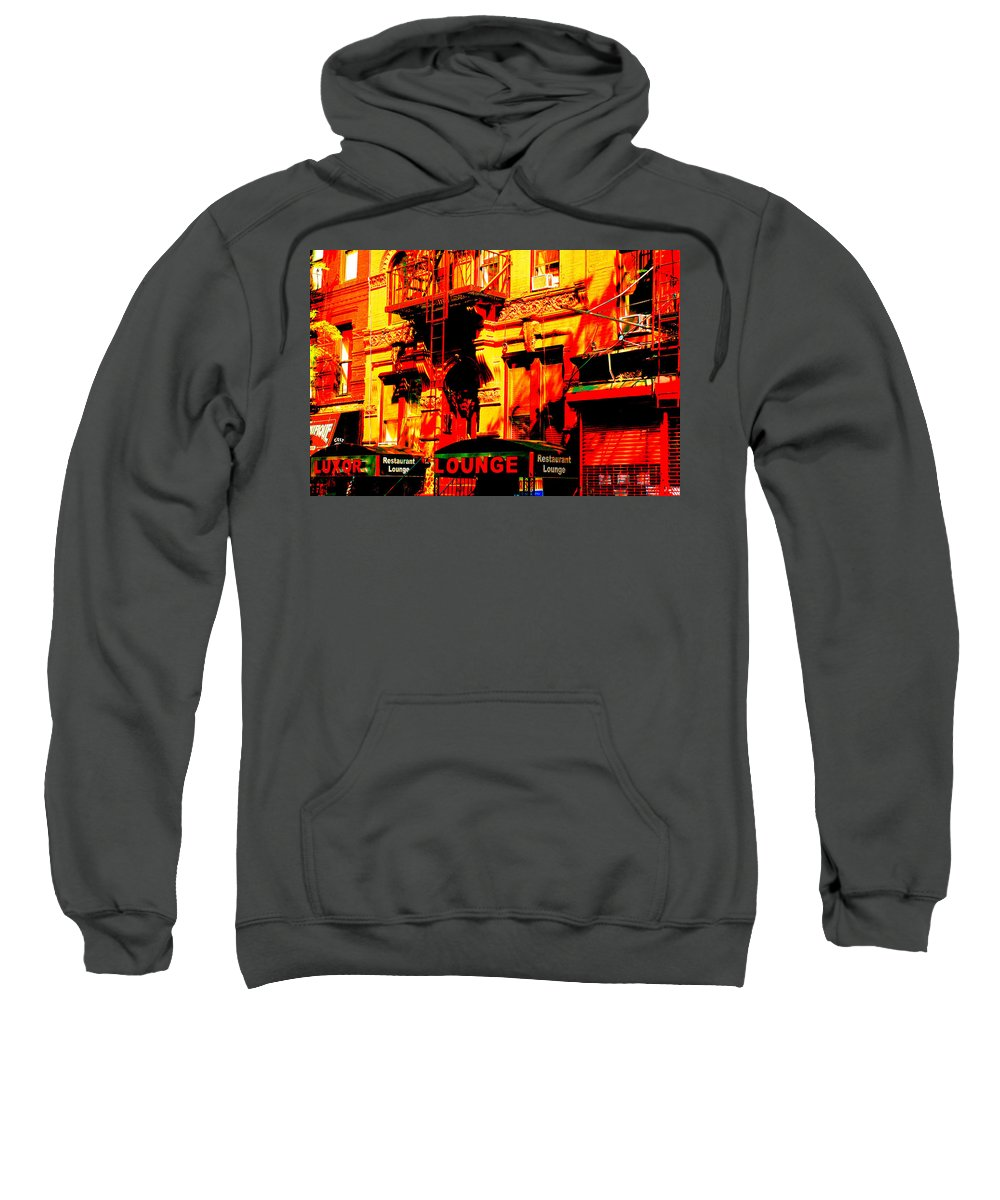 New York City Sweatshirt featuring the photograph Downtown Heatwave by Ira Shander