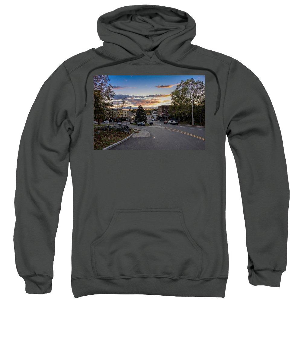 Sunset Sweatshirt featuring the photograph Downtown Ipswich Sunset by David Stone