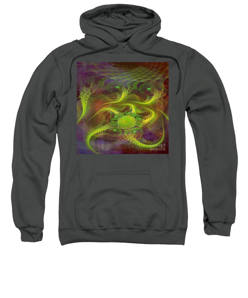 Dragons Sweatshirt featuring the digital art Dragon Nest - Square Version by John Beck
