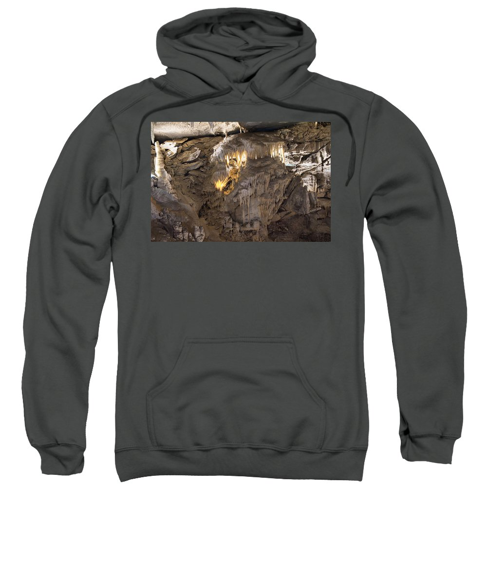 Mammoth Cave National Park Sweatshirt featuring the photograph Drapery Room by Mary Almond
