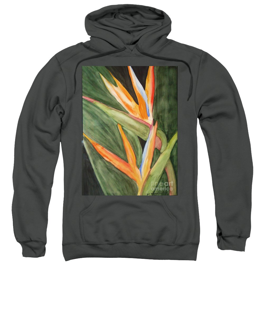 Paradise Flower Image Sweatshirt featuring the painting Dream As If You'll Live Forever  by Yael VanGruber