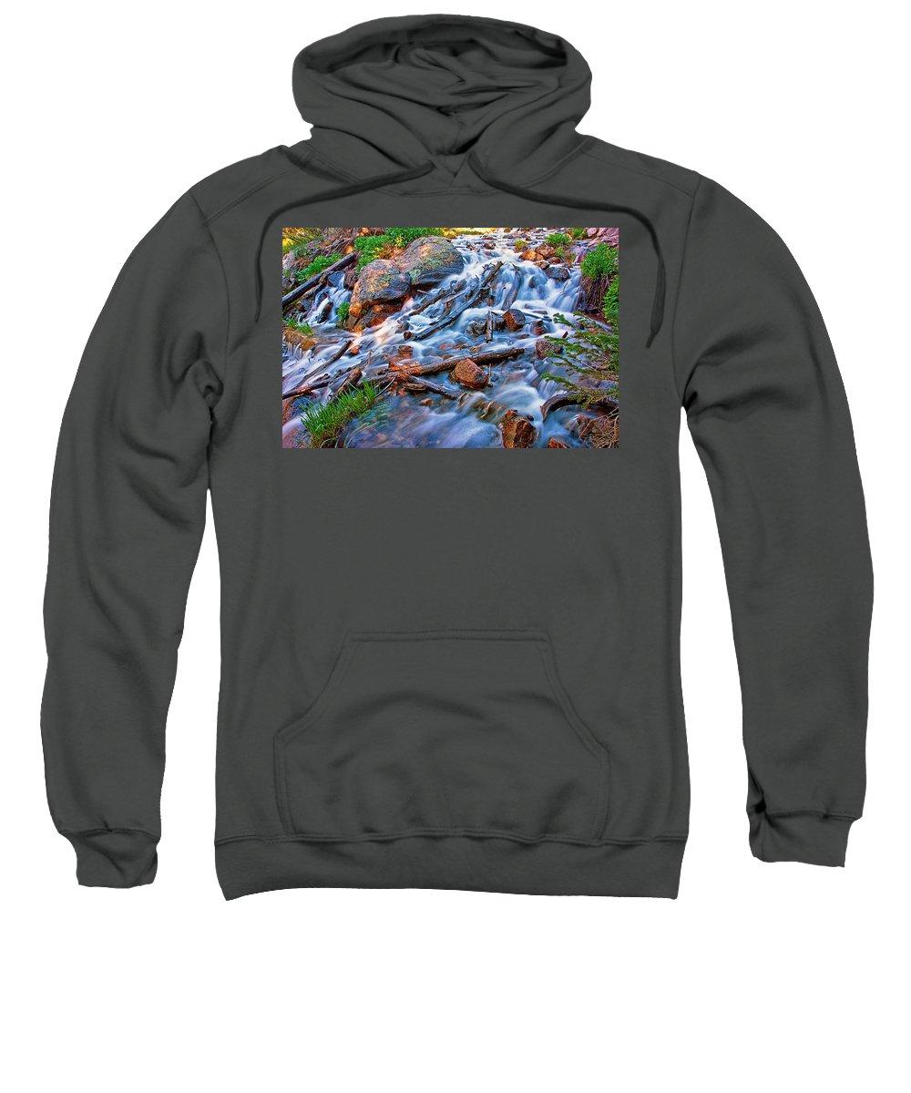 Water Sweatshirt featuring the photograph Dream Cascade by Brian Kerls