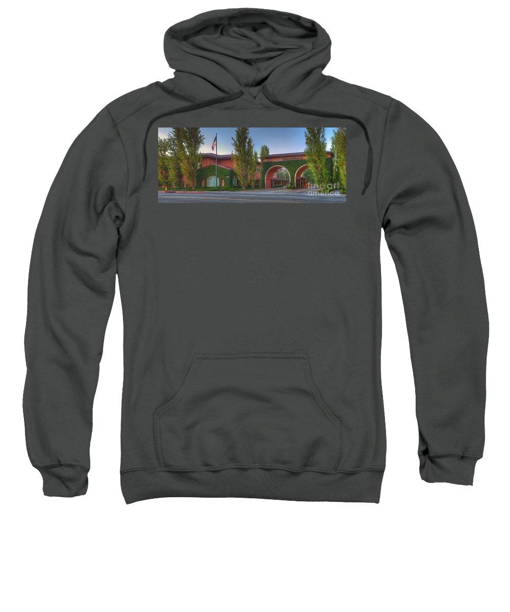 Dreamworks Studio; Burbank/glendale Ca; Panorama Beautiful Sweatshirt featuring the photograph Dreamworks Studio Burbank Glendale Ca Panorama by David Zanzinger