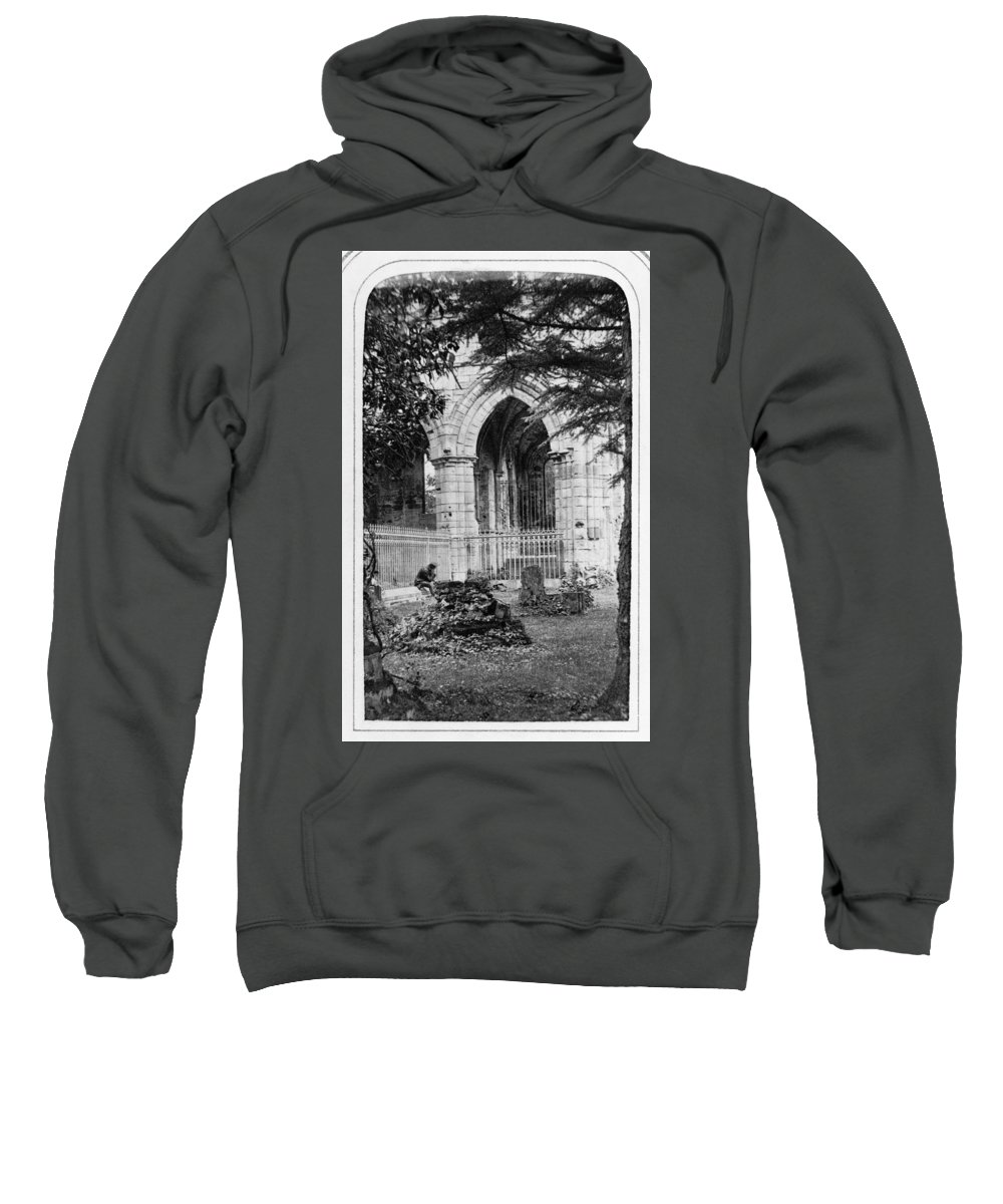 1866 Sweatshirt featuring the photograph Dryburgh Abbey, 1866 by Granger