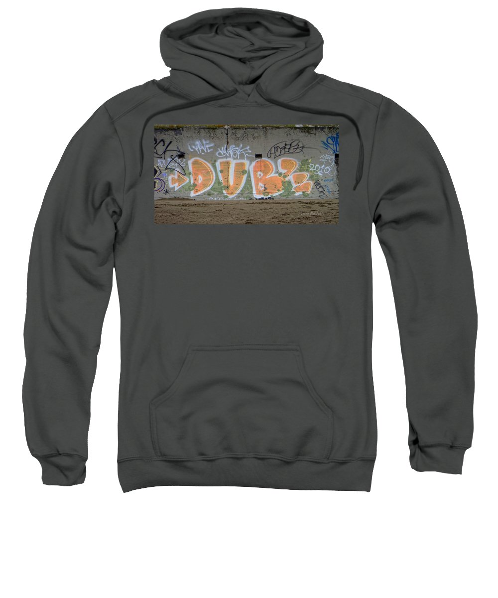Graffiti Sweatshirt featuring the photograph Dubs by Donna Blackhall