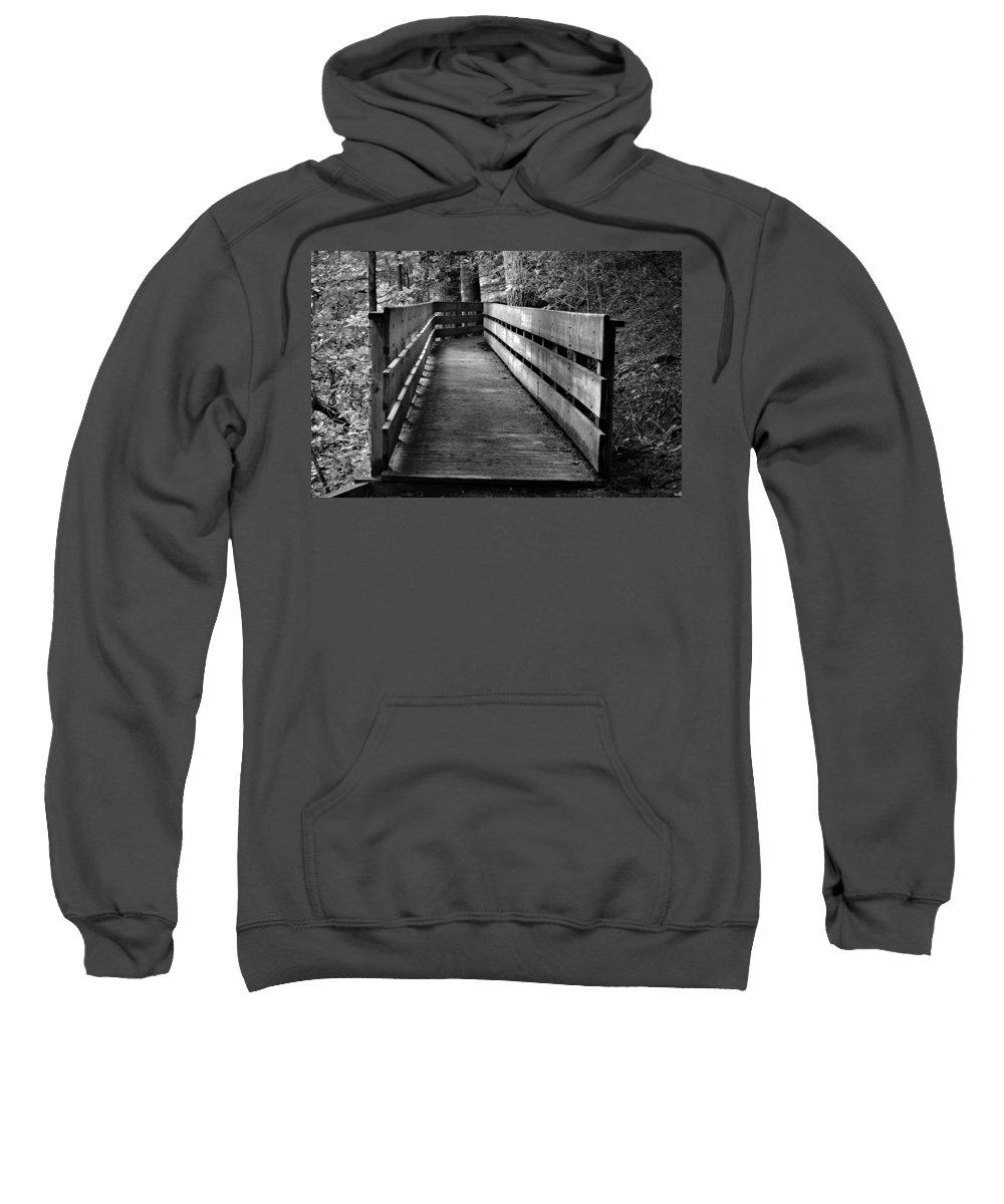 Dukes Creek Falls Sweatshirt featuring the photograph Dukes Creek Falls Walkway by Tara Potts