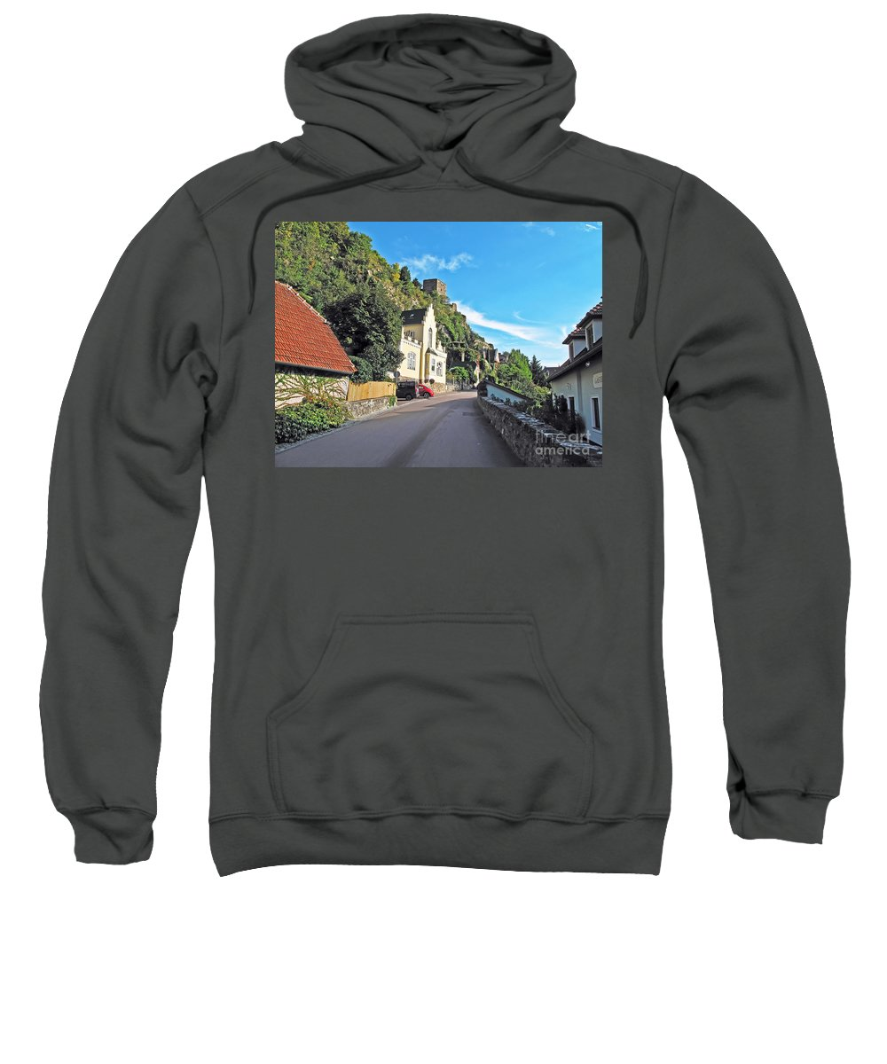Travel Sweatshirt featuring the photograph Durnstein Village by Elvis Vaughn