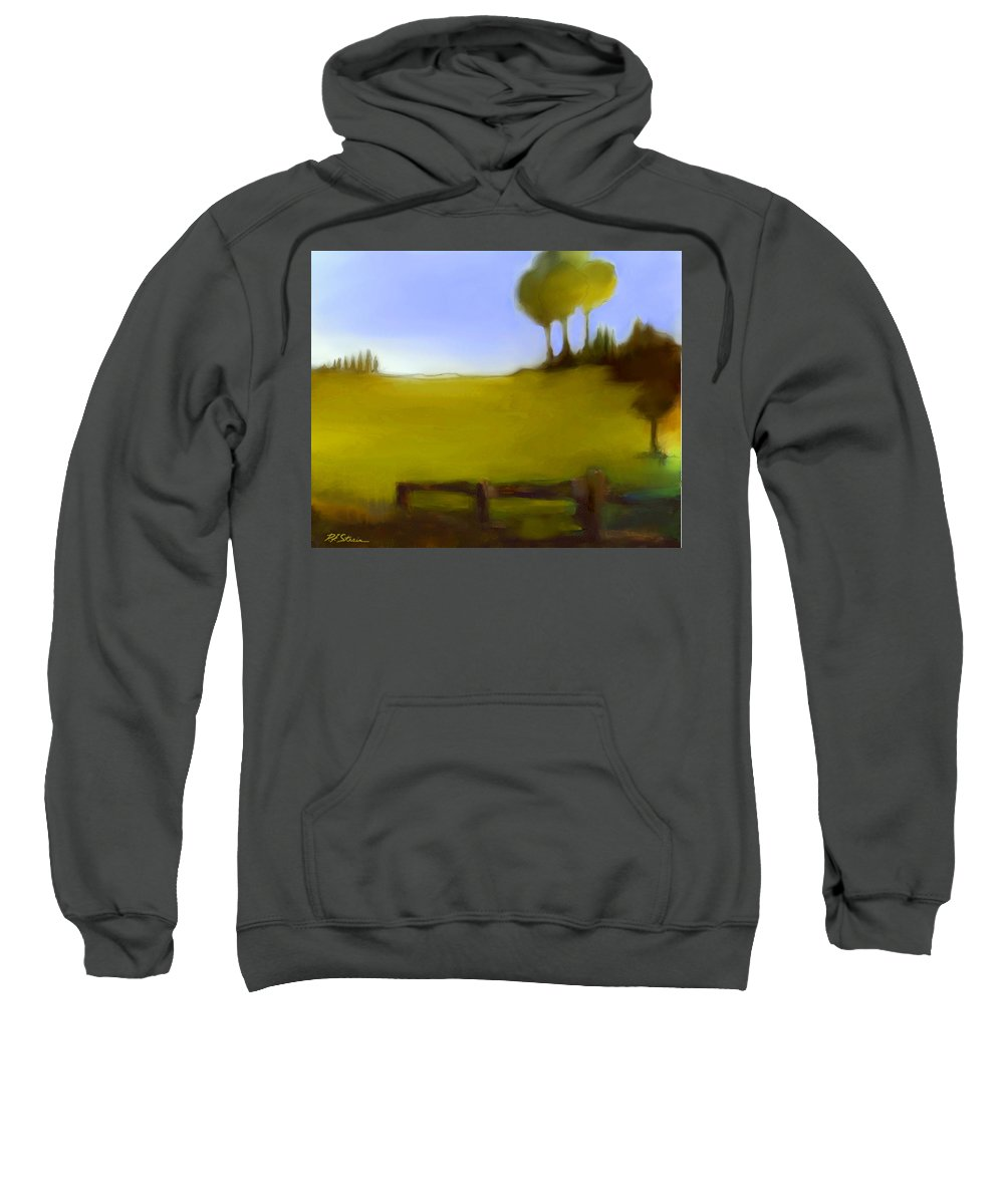 Fineartamerica.com Sweatshirt featuring the painting Duxbury Golf Course Number 6-6 by Diane Strain
