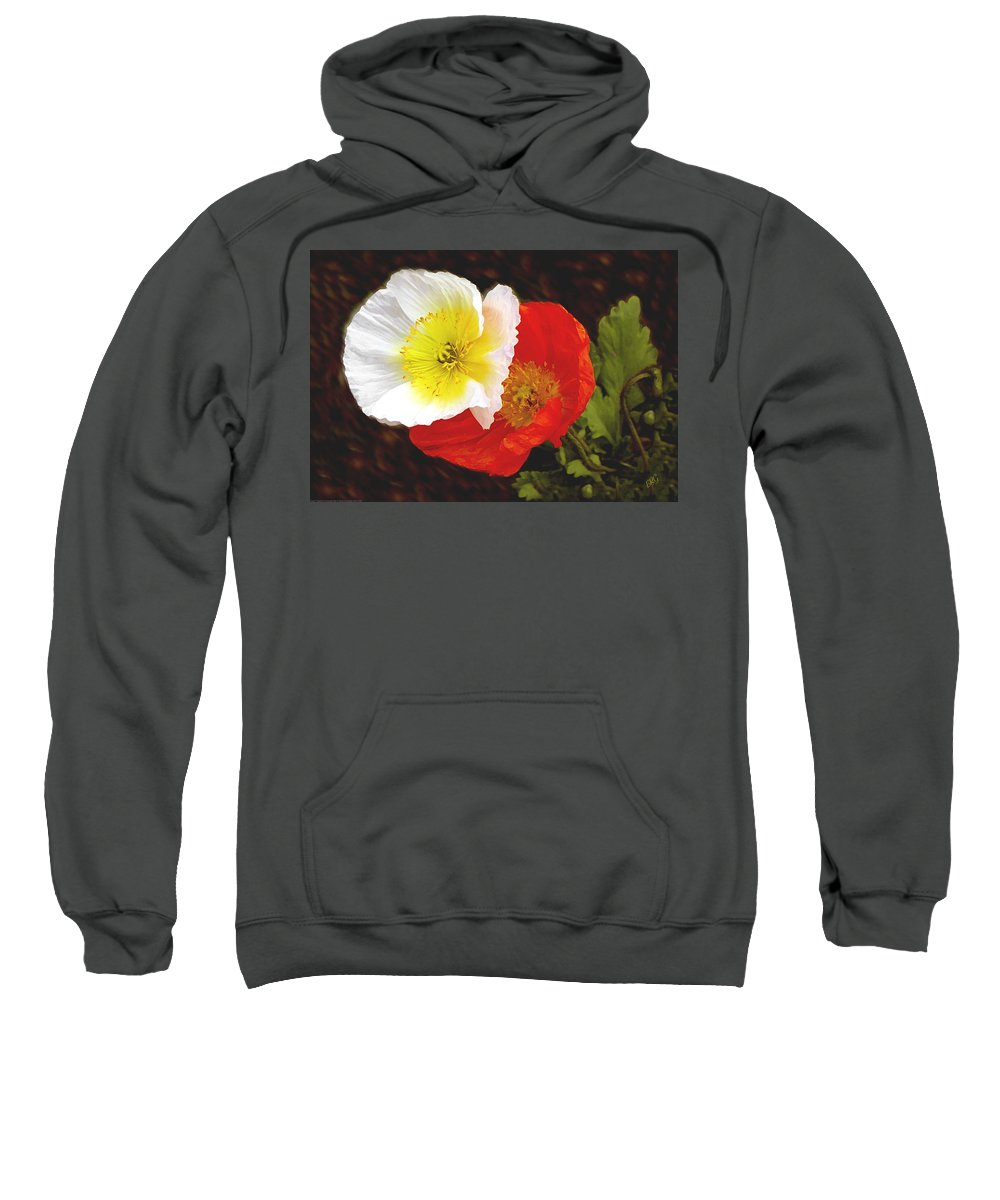 Icelandic Poppy Sweatshirt featuring the photograph Eager Poppies by Ben and Raisa Gertsberg