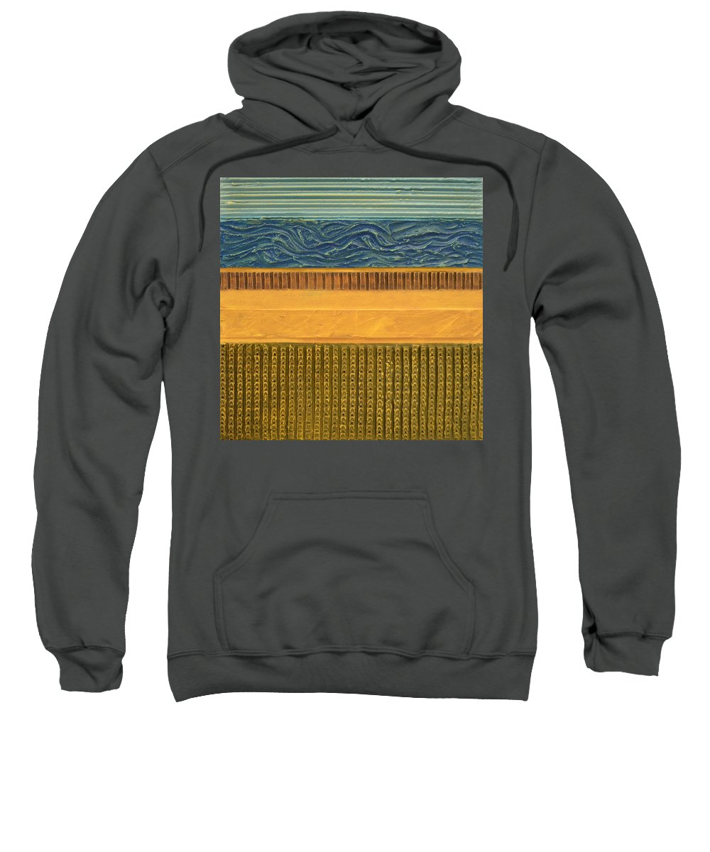 Abstract Sweatshirt featuring the painting Earth Layers Abstract L by Michelle Calkins