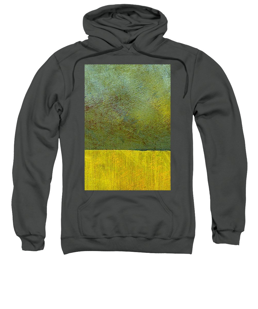 Abstract Landscape Sweatshirt featuring the painting Earth Study Two by Michelle Calkins