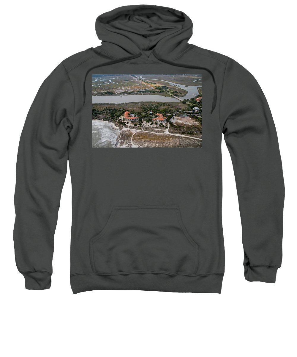 Jekyll Sweatshirt featuring the photograph East Coast Georgia by Betsy Knapp