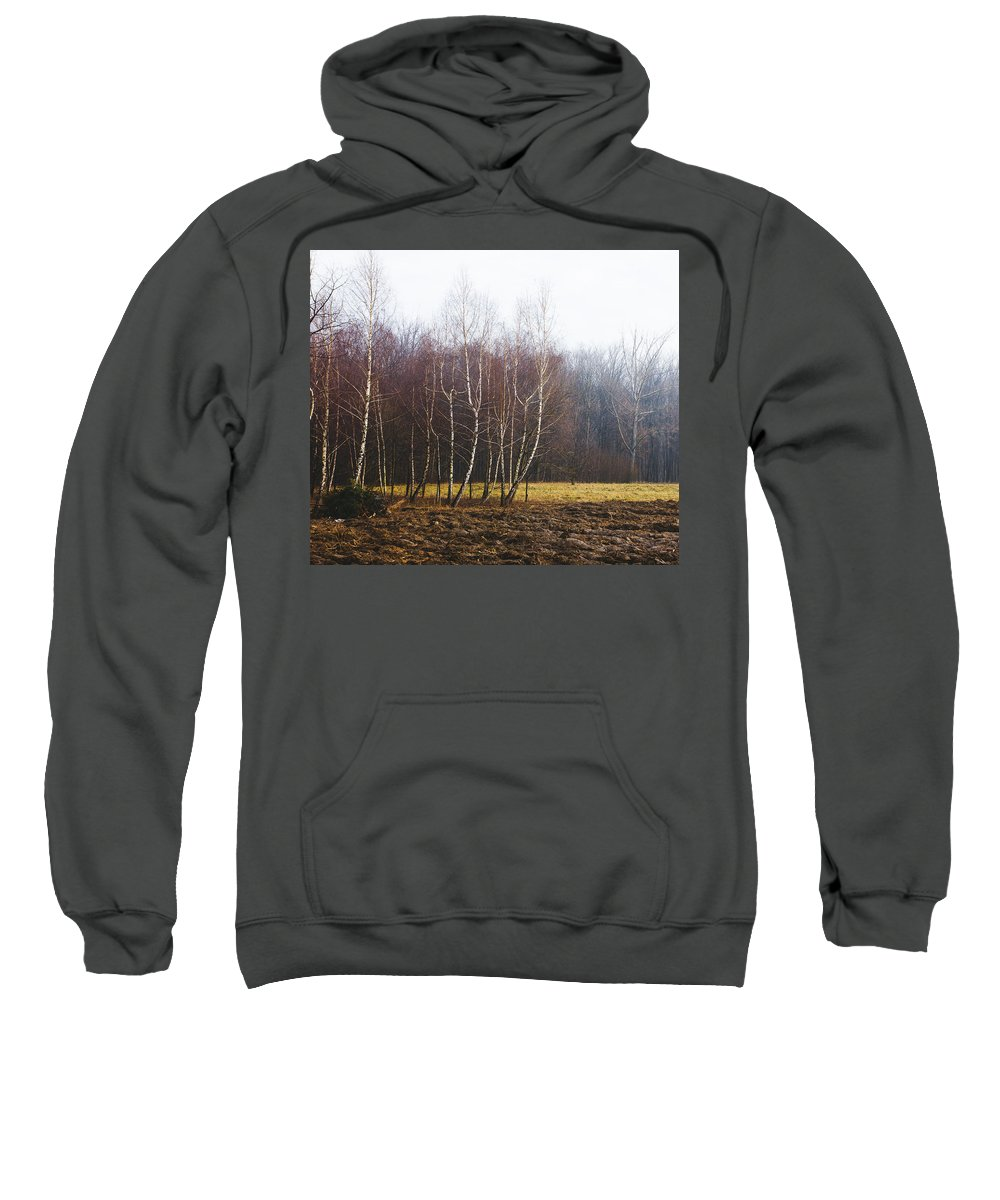 Winter Sweatshirt featuring the photograph Edge Of The Forest by Pati Photography