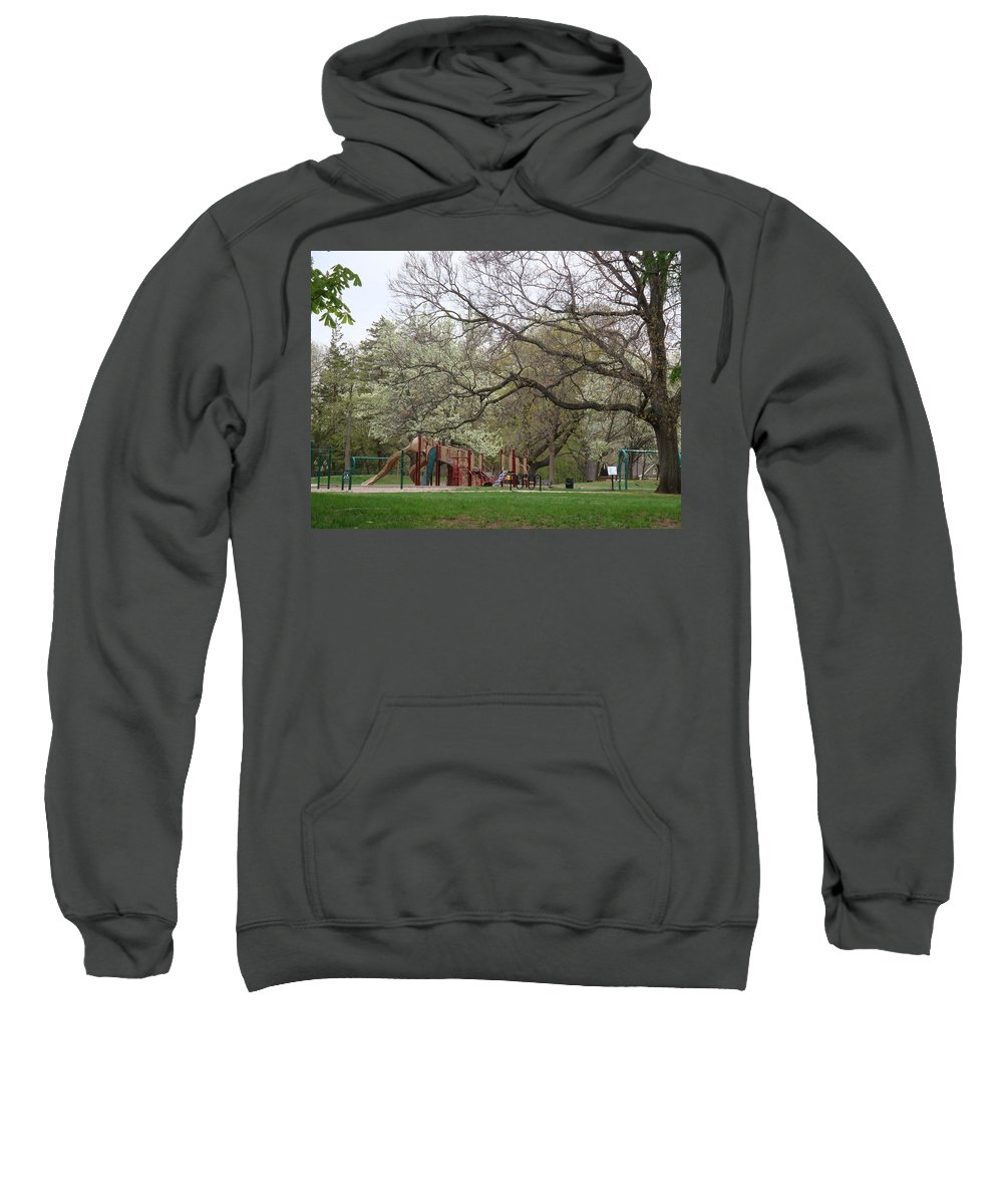 Park Sweatshirt featuring the photograph Edgewood Park New Haven Connecticut by Kim Chernecky