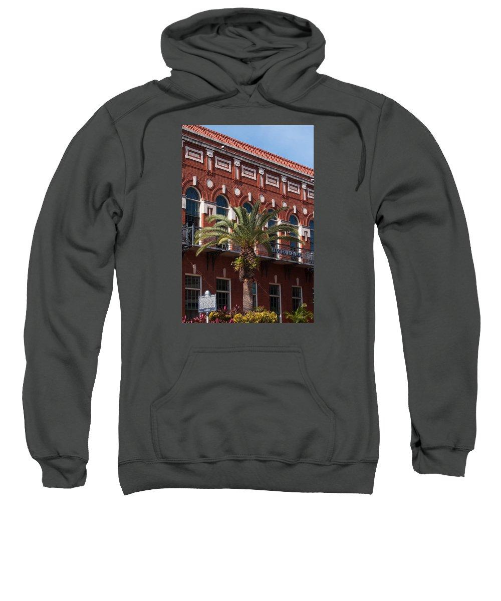 El Centro Espanol Sweatshirt featuring the photograph El Centro Espanol De Tampa by Paul Rebmann