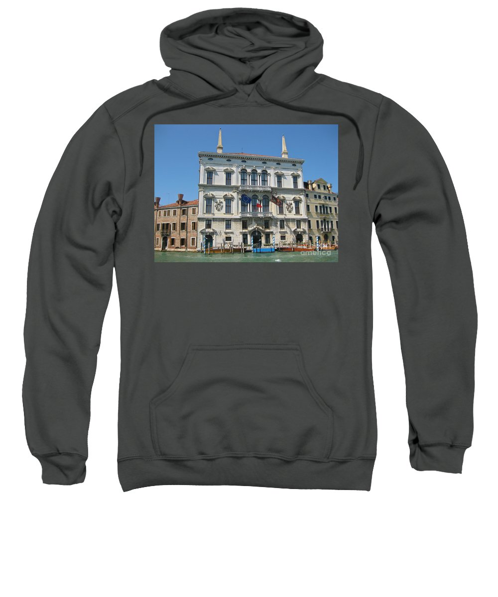 Embassy Buildings Venice Italy Sweatshirt featuring the photograph Embassy Building Venice Italy by John Malone