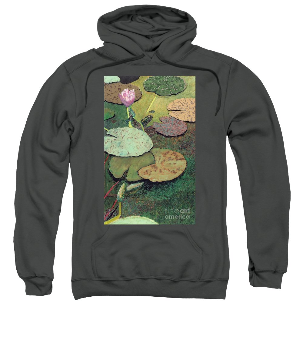 Landscape Sweatshirt featuring the painting Emerald Pond by Allan P Friedlander