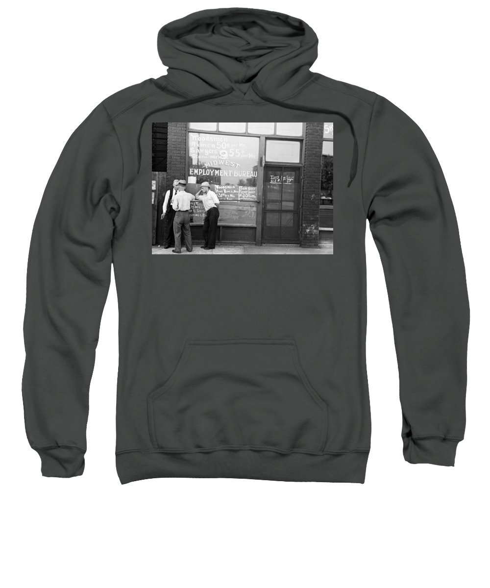1937 Sweatshirt featuring the photograph Employment Bureau, 1937 by Granger