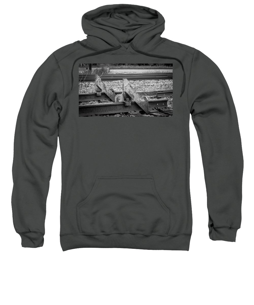 Buffalo Sweatshirt featuring the photograph End Of The Line by Guy Whiteley