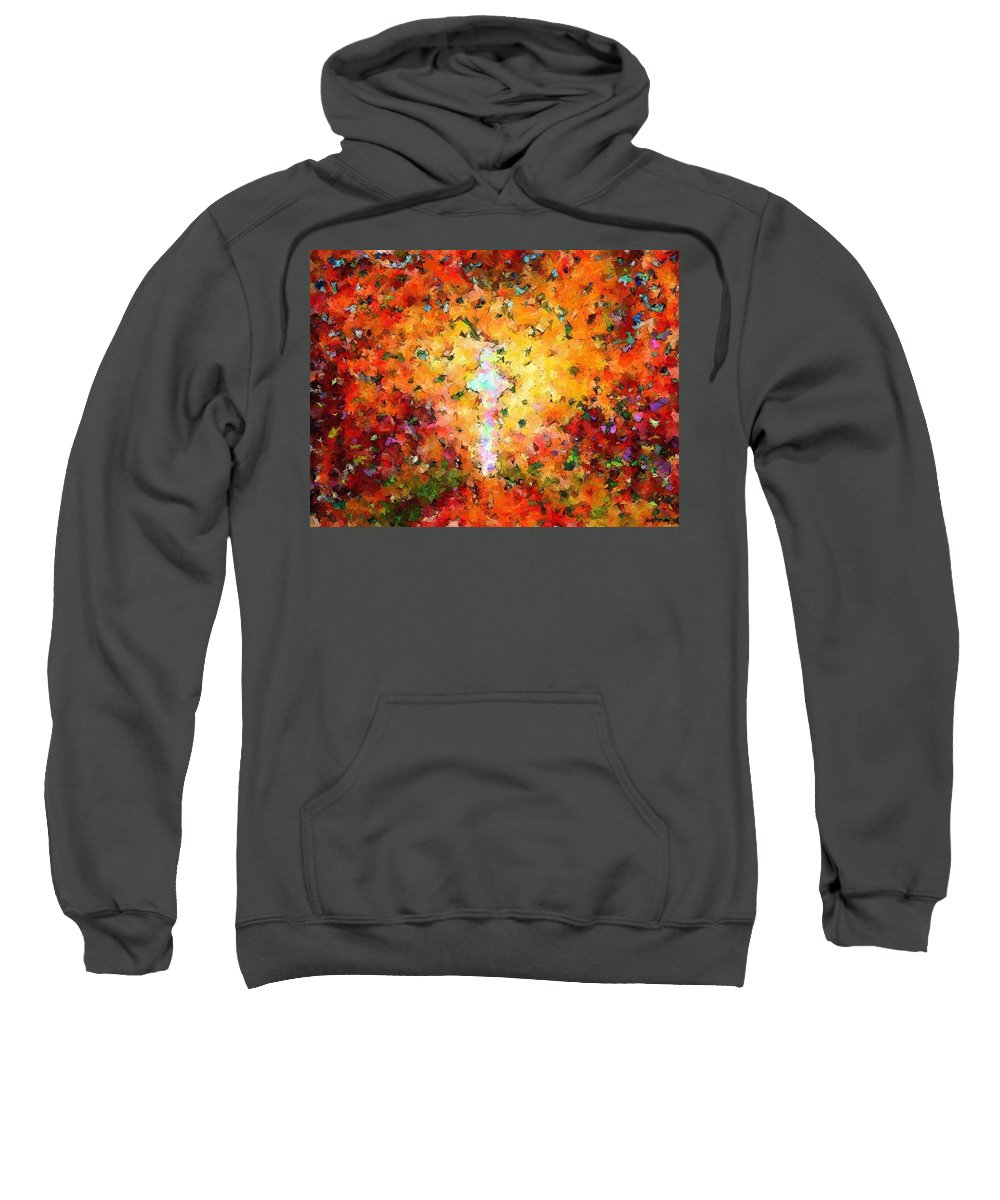 Jesus Christ Sweatshirt featuring the mixed media End Of The Road by Glenn McCarthy Art and Photography