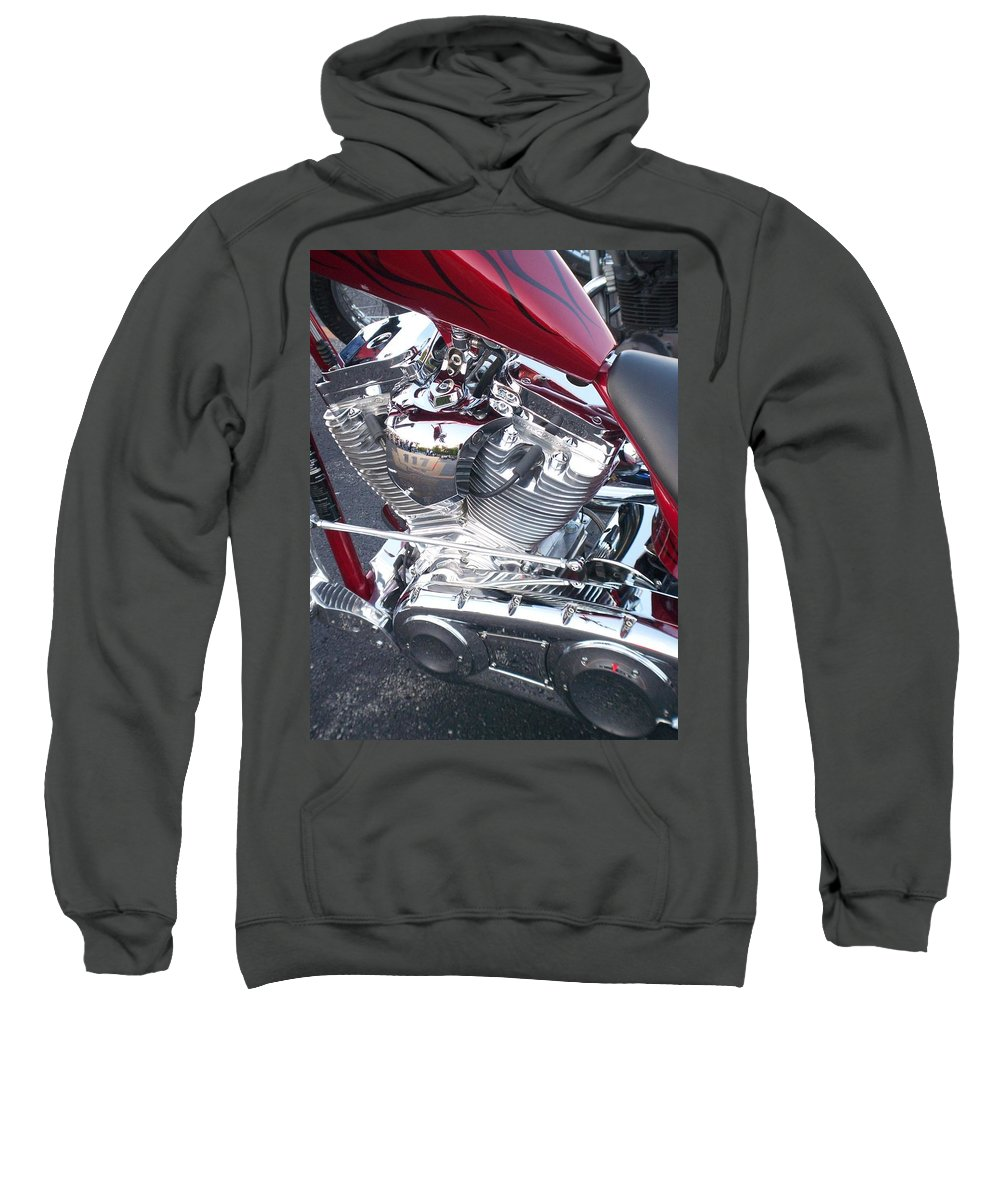 Motorcycles Sweatshirt featuring the photograph Engine Close-up 4 by Anita Burgermeister