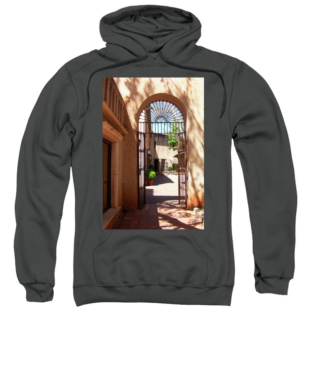 Tlaquepaque Sweatshirt featuring the photograph Entrances by Ben and Raisa Gertsberg
