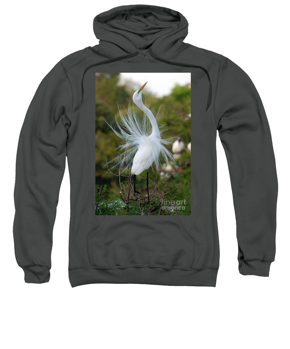 Egret Sweatshirt featuring the photograph Ergret No.6 by John Greco