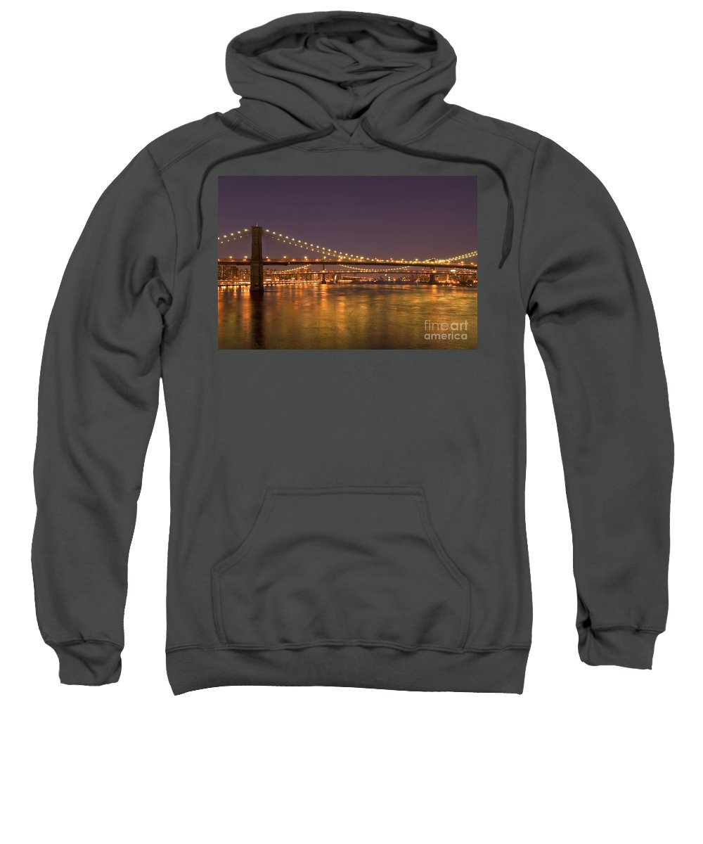 New York City Sweatshirt featuring the photograph Evening II New York City Usa by Sabine Jacobs