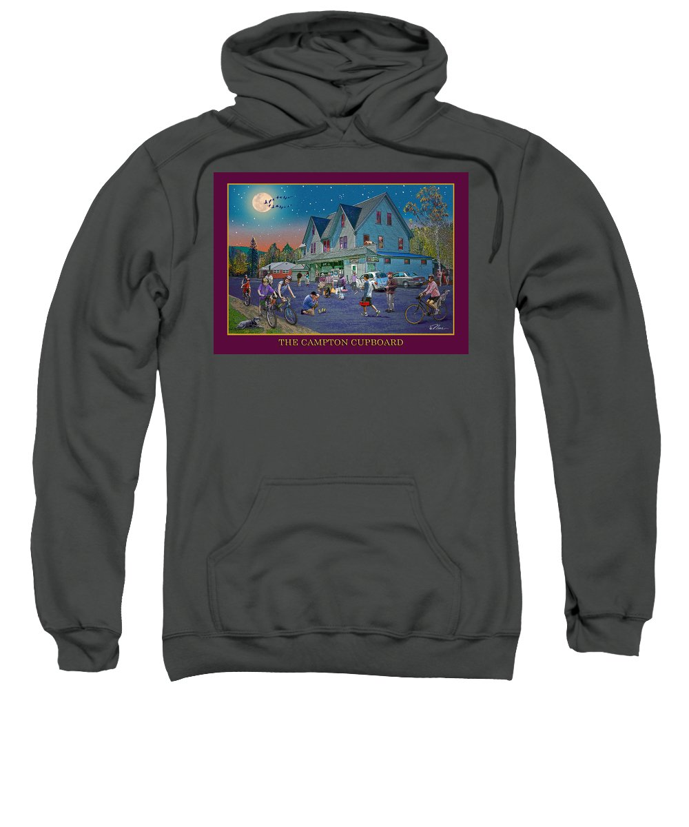 Fishing Sweatshirt featuring the digital art Evening In Campton Village by Nancy Griswold