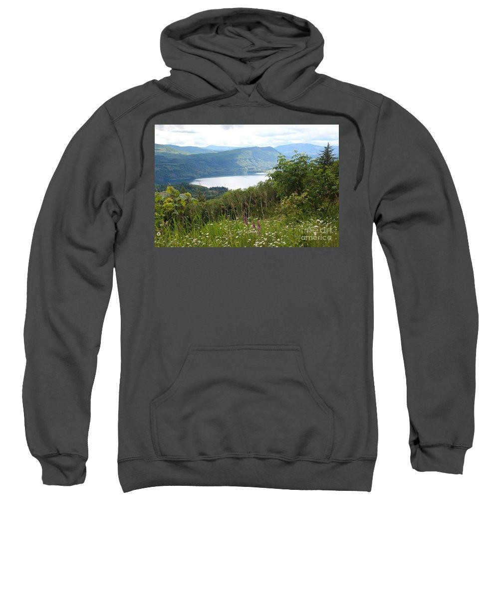 Washington State Sweatshirt featuring the photograph Evergreen Overlook by Carol Groenen