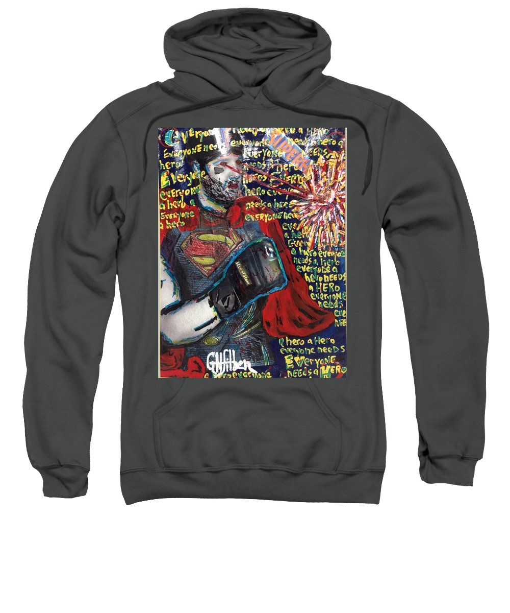 Drawing Sweatshirt featuring the photograph A Hero by Gh FiLben