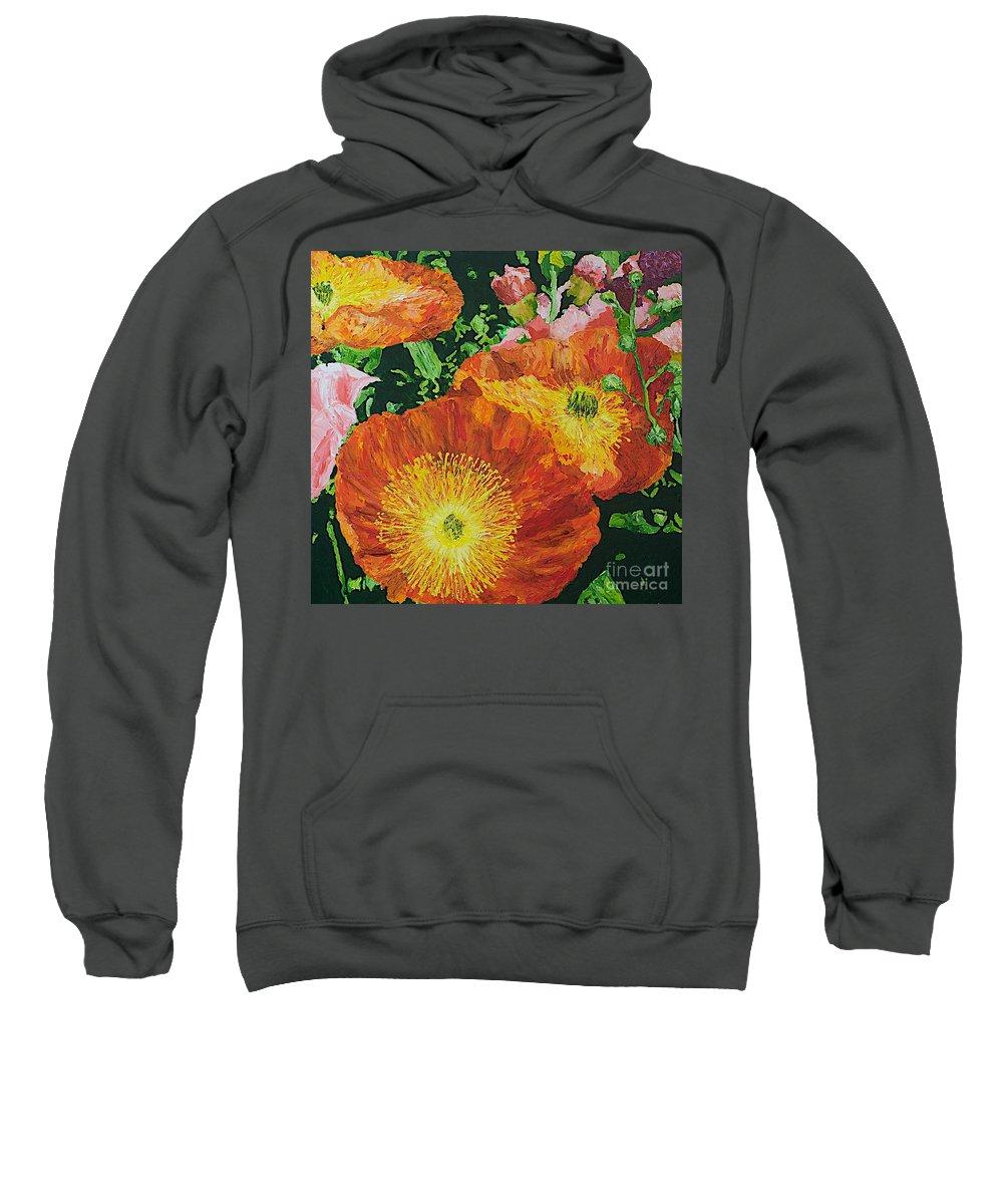 Landscape Sweatshirt featuring the painting Exuberance is Beauty by Allan P Friedlander