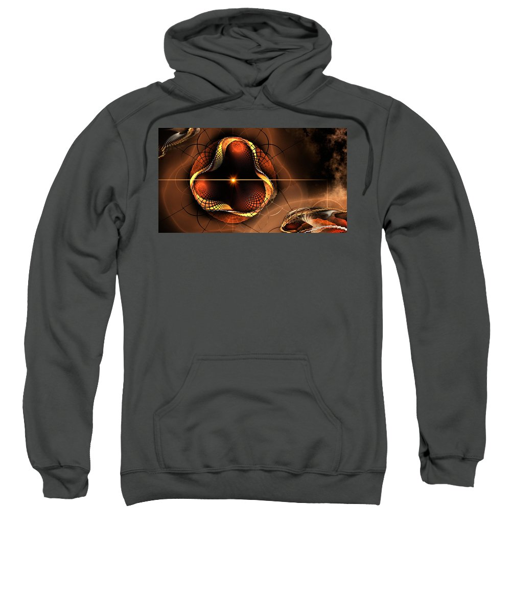 Phil Sadler Sweatshirt featuring the digital art Eye Of The Bug... by Phil Sadler