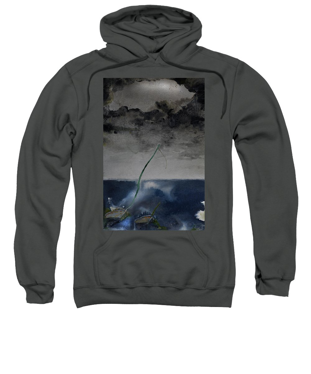 Seascape Sweatshirt featuring the painting Eye Of The Storm by Gray Artus