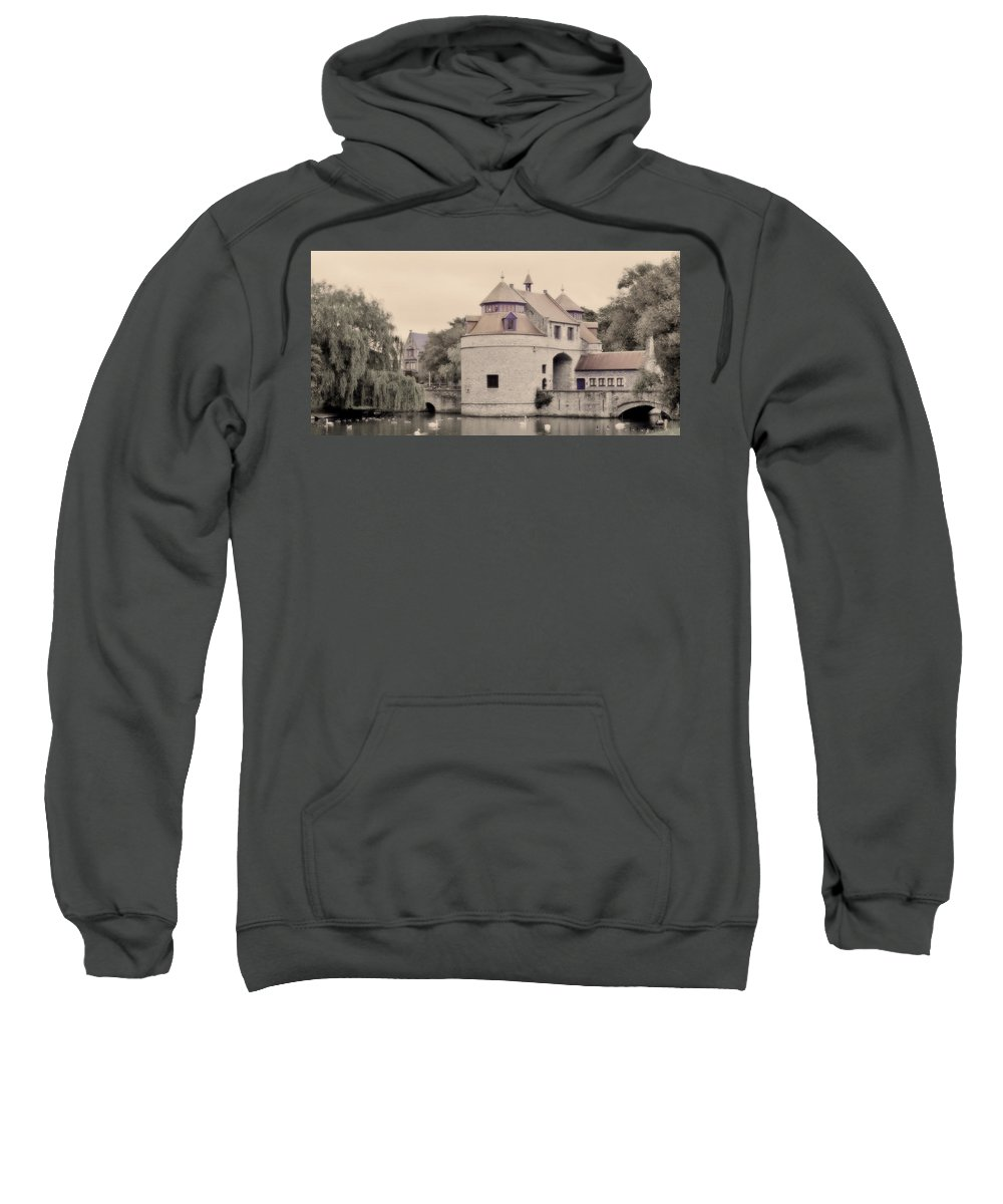 Ezelport Sweatshirt featuring the photograph Ezelport City Gate In Bruges by Greg Matchick