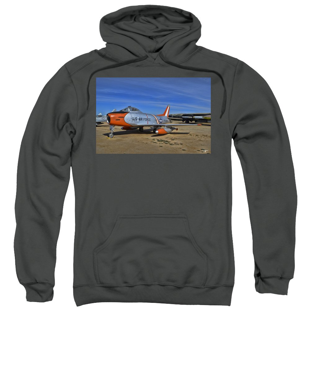 North American F-86h Sabre Sweatshirt featuring the photograph F-86h Sabre by Tommy Anderson