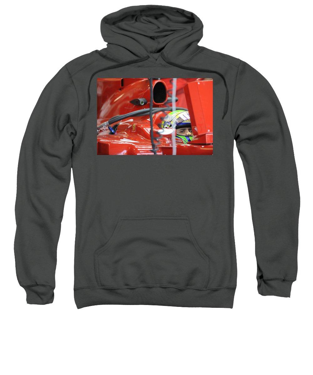 Formula One Sweatshirt featuring the photograph F1 Driver Felipe Massa by Rafa Rivas