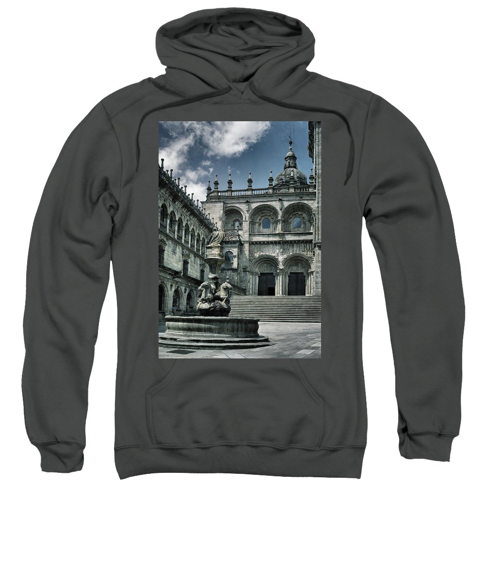 Fa�ade Sweatshirt featuring the photograph Facade Of The Silverware In Santiago De Compostela by Guido Montanes Castillo