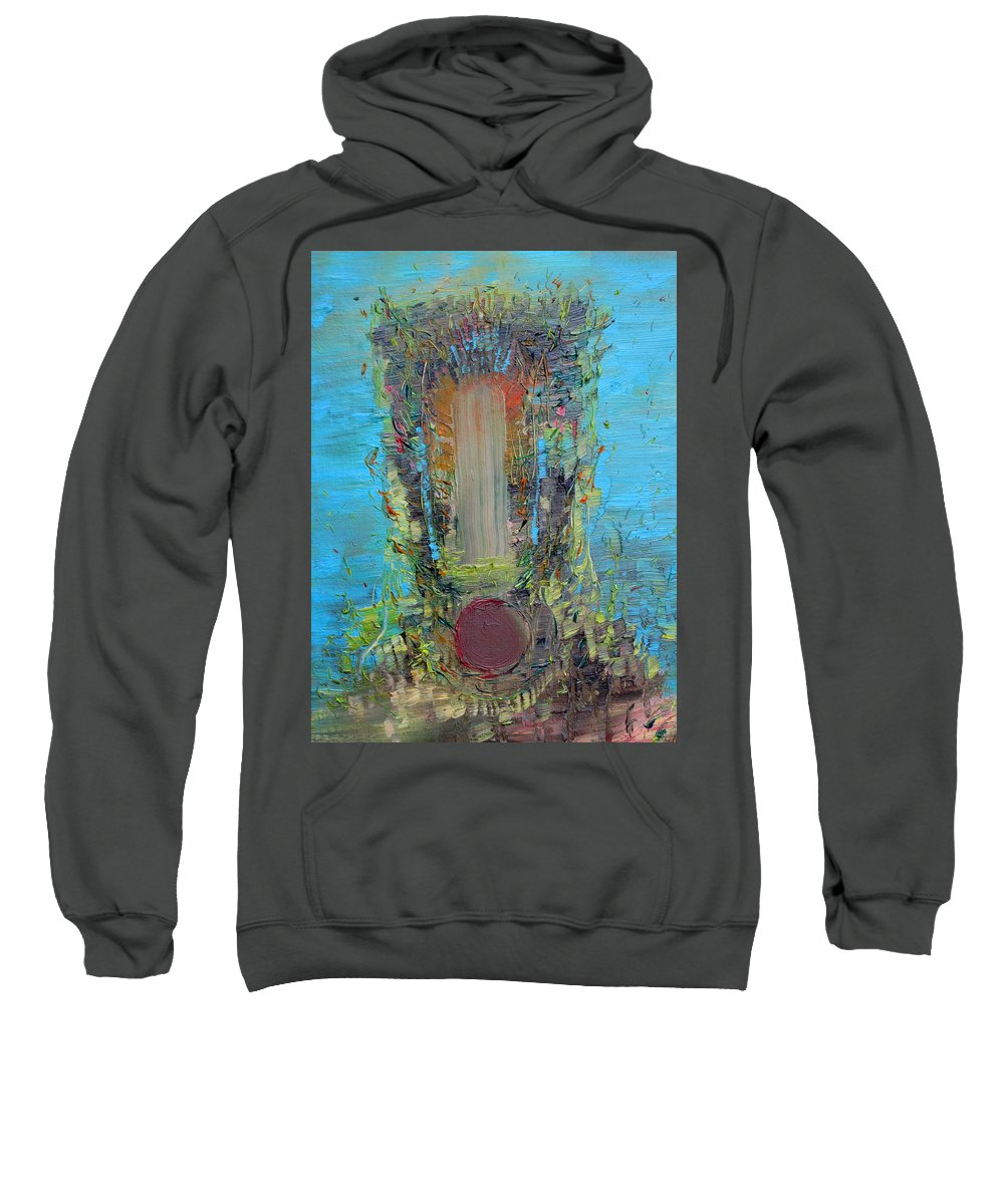 Art Sweatshirt featuring the painting Faceshifting by Fabrizio Cassetta