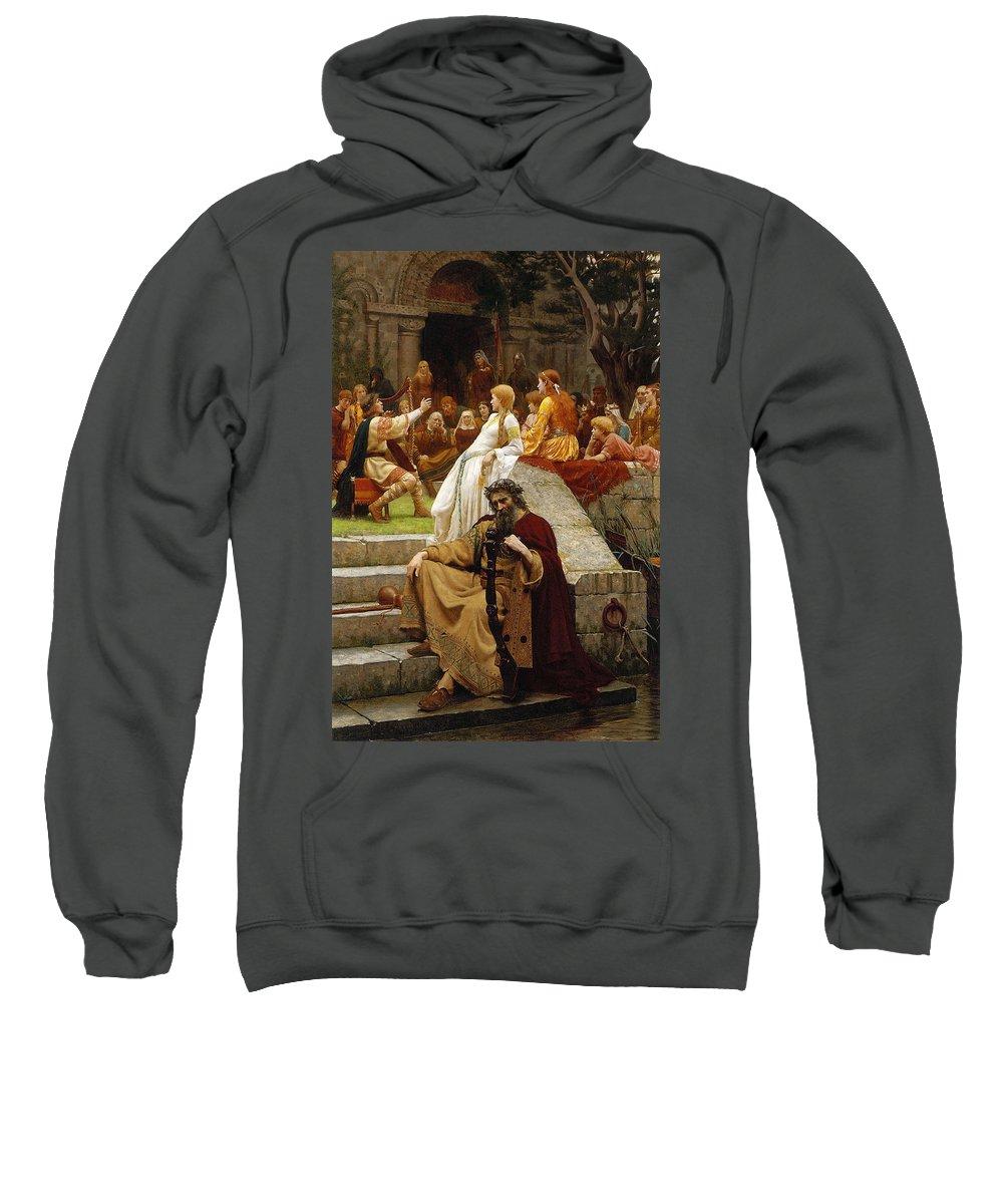 Pre-raphaelite Sweatshirt featuring the painting Faded Laurels by Philip Ralley