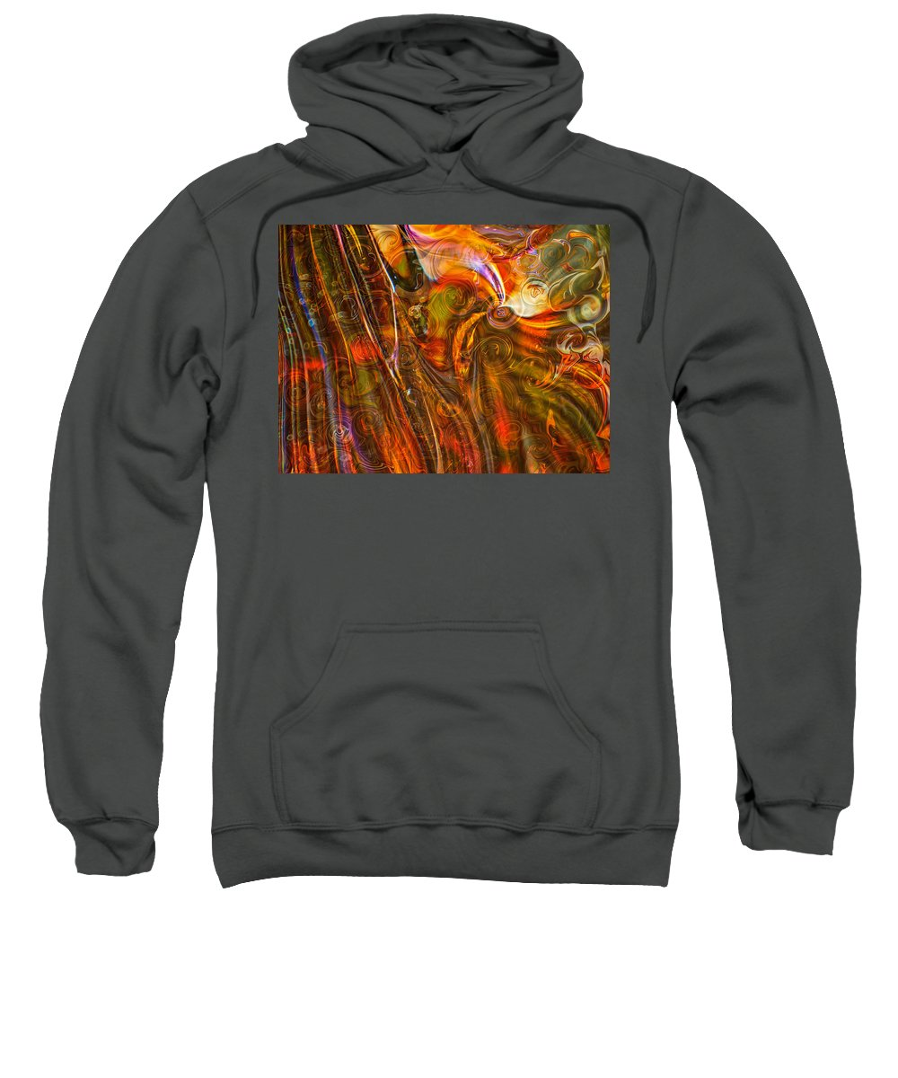 Georgia Okeefe Sweatshirt featuring the painting Fairytale Colors by Omaste Witkowski