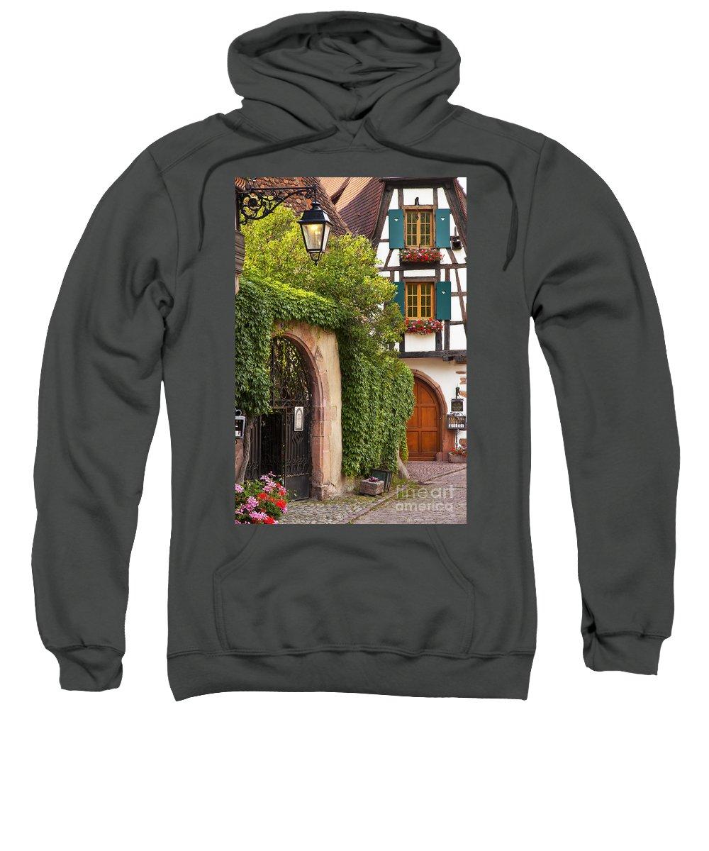 Kaysersberg Sweatshirt featuring the photograph Fairytale Village by Brian Jannsen