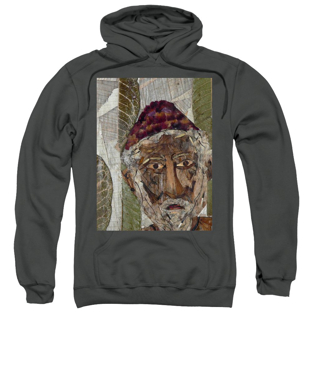 Portrait.holy Person Portrait Sweatshirt featuring the mixed media Fakeer by basant Soni